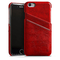 Leather Case ruby red