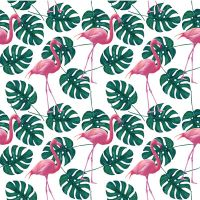 Flamingo Leaves - DeinDesign