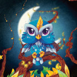 Moonlight Owl - Webbelart